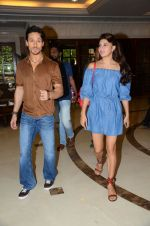Tiger Shroff and Jacqueline Fernandez during the audio launch of Beat Pe Booty song from film A Flying Jatt at the Radio City Studios in Mumbai, India on August 3, 3016 (6)_57a1d4f4e28fa.jpg