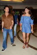 Tiger Shroff and Jacqueline Fernandez during the audio launch of Beat Pe Booty song from film A Flying Jatt at the Radio City Studios in Mumbai, India on August 3, 3016 (7)_57a1d52dd64e8.jpg