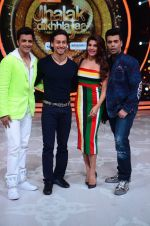 Tiger Shroff, Jacqueline, Karan, Ganesh promotion of film A Flying Jatt on the sets of reality dance show Jhalak Dikhhla Jaa season 9 in Mumbai, India on August 2 2016 (152)_57a18b92a6c18.JPG