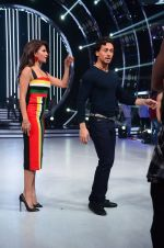 Tiger Shroff, Jacqueline during the promotion of film A Flying Jatt on the sets of reality dance show Jhalak Dikhhla Jaa season 9 in Mumbai, India on August 2 2016