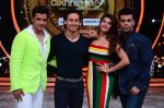 Tiger Shroff, Jacqueline, Karan, Ganesh promotion of film A Flying Jatt on the sets of reality dance show Jhalak Dikhhla Jaa season 9 in Mumbai, India on August 2 2016