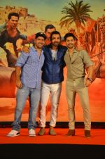 Varun Dhawan, John Abraham, Rohit Dhawan at Dishoom Movie Press Meet on 3rd August 2016
