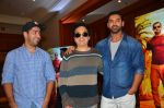 John Abraham, Sajid Nadiadwala, Rohit Dhawan at Dishoom Movie Press Meet on 3rd August 2016 (22)_57a2e9502898b.JPG