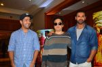 John Abraham, Sajid Nadiadwala, Rohit Dhawan at Dishoom Movie Press Meet on 3rd August 2016