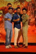Varun Dhawan, John Abraham,Rohit Dhawan at Dishoom Movie Press Meet on 3rd August 2016 (76)_57a2ea70a4a99.JPG