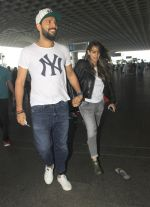 Yuvraj Singh, Hazel Keech snapped at airport on 5th Aug 2016