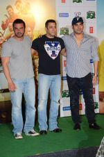 Amy Jackson, Sohail Khan, Arbaaz Khan at Freaky Ali trailer launch on 7th Aug 2016