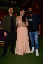 Tiger Shroff, Jacqueline Fernandez, Remo D Souza promote The Flying Jatt on the sets of The Kapil Sharma Show on 8th Aug 2016