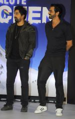 Arjun Rampal, Rannvijay Singh at JW Marriott for salute siachen documentary promoted by eros on 10th Aug 2016