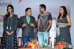 Diana Penty, Dia Mirza and Abhay Deol sanpped at Welingkar college on 12th Aug 2016
