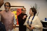 Amitabh Bachchan, Shobha De at Dilip De_s art event on 16th Aug 2016 (96)_57b3e9620ff98.JPG