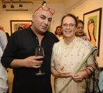 krsna mehta with pherozah godrej at Dilip De_s art event on 16th Aug 2016_57b3e9c4abf18.JPG
