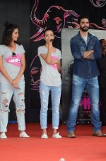 Angad Bedi, Kirti Kulhari, Andrea Tariang at Pink promotions in Umang fest on 17th Aug 2016