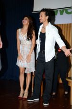 Jacqueline Fernandez, Tiger Shroff at The Flying Jatt promotions on 23rd Aug 2016