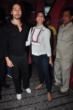 Jacqueline Fernandez, Tiger Shroff at The Flying Jatt screening in Mumbai on 23rd Aug 2016