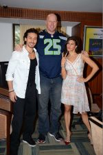 Jacqueline Fernandez, Tiger Shroff, Nathan Jones at The Flying Jatt promotions on 23rd Aug 2016