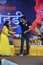 Ranbir Kapoor during the Mumbai City FC Dahi Handi Utsav at Shahaji Raje Bhosle Kreeda Sankul on 25th Aug 2016 (11)_57bff89a8392d.JPG