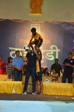 Ranbir Kapoor during the Mumbai City FC Dahi Handi Utsav at Shahaji Raje Bhosle Kreeda Sankul on 25th Aug 2016 (88)_57bff9467e47a.JPG