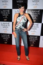Mandira Bedi at Payal Singhal and Priyadarshini Rao Red Carpet at Lakme Fashion Week 2016 on 26th Aug 2016