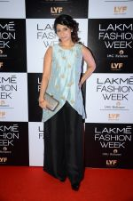 Tanisha Mukherjee at Payal Singhal and Priyadarshini Rao Red Carpet at Lakme Fashion Week 2016 on 26th Aug 2016