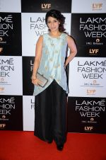Tanisha Mukherjee at Payal Singhal and Priyadarshini Rao Red Carpet at Lakme Fashion Week 2016 on 26th Aug 2016 (109)_57c18544bd0f6.JPG