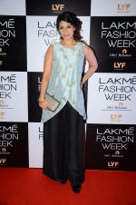 Tanisha Mukherjee at Payal Singhal and Priyadarshini Rao Red Carpet at Lakme Fashion Week 2016 on 26th Aug 2016 (111)_57c1854972771.JPG
