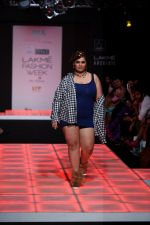 Model walk the ramp for Little Shilpa Show at Lakme Fashion Week 2016 on 28th Aug 2016 (318)_57c3c3631322d.JPG