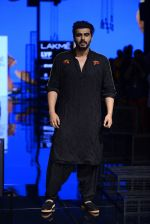 Arjun Kapoor walk the ramp for Kunal Rawal Show at Lakme Fashion Week 2016 on 28th Aug 2016 (94)_57c544ef8247e.JPG