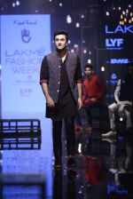 Ranbir Kapoor walk the ramp for Kunal Rawal Show at Lakme Fashion Week 2016 on 28th Aug 2016 (662)_57c54654bcc22.JPG