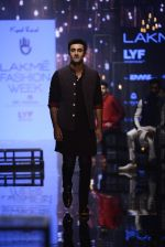 Ranbir Kapoor walk the ramp for Kunal Rawal Show at Lakme Fashion Week 2016 on 28th Aug 2016 (663)_57c5465b5b060.JPG