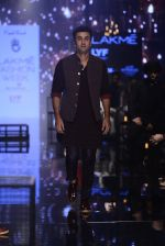 Ranbir Kapoor walk the ramp for Kunal Rawal Show at Lakme Fashion Week 2016 on 28th Aug 2016 (667)_57c54678e082d.JPG