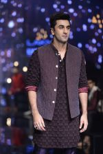 Ranbir Kapoor walk the ramp for Kunal Rawal Show at Lakme Fashion Week 2016 on 28th Aug 2016 (674)_57c5487f89fef.JPG