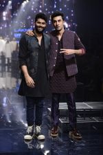 Ranbir Kapoor walk the ramp for Kunal Rawal Show at Lakme Fashion Week 2016 on 28th Aug 2016 (740)_57c549f196e37.JPG