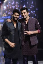 Ranbir Kapoor walk the ramp for Kunal Rawal Show at Lakme Fashion Week 2016 on 28th Aug 2016 (756)_57c54a78d206b.JPG