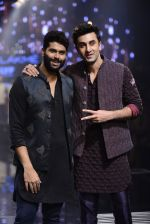 Ranbir Kapoor walk the ramp for Kunal Rawal Show at Lakme Fashion Week 2016 on 28th Aug 2016 (757)_57c54c19c3d65.JPG