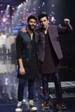 Ranbir Kapoor walk the ramp for Kunal Rawal Show at Lakme Fashion Week 2016 on 28th Aug 2016 (759)_57c54a8c6645b.JPG