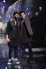 Ranbir Kapoor walk the ramp for Kunal Rawal Show at Lakme Fashion Week 2016 on 28th Aug 2016 (761)_57c54a9b661ff.JPG