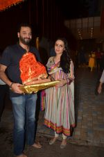 Anu Dewan and Sunny Dewan snapped as they got there ganpati on 4th Sept 2016 (5)_57cd62cc01dca.JPG