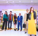 Aditi Rao Hydari and Venu Nair (MD Marks& Spencer Reliance India) with Models showcasing the Autumn 16 collections at the DLF Mall of India_57d2a0e8d80c5.jpg