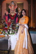 Sophie Choudry at Ganpati mandal on 9th Sept 2016 (31)_57d417ec978f3.JPG
