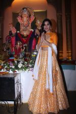 Sophie Choudry at Ganpati mandal on 9th Sept 2016 (42)_57d417f68ab52.JPG