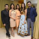 Miss India_s Pankhuri Gidwani, Priyadarshni Chaterjee and  Sushruti Krishna with designers Shivan N Naresh at Shivan N Naresh fashion preview in Primme Up Fashion store on 11th Spt 2016_57d645cad98ac.JPG