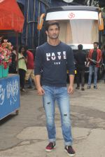 Sushant Singh Rajput promotes M S Dhoni on the sets of Kumkum Bhagya on 15th Sept 2016 (1)_57dbe3af0e23d.JPG