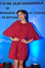 Jacqueline Fernandez at the launch of Sajid Nadiadwala_s france honours on 20th Sept 2016 (118)_57e237f5b95fb.JPG