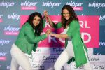 Sonakshi Sinha and Sakshi Malik at Whisper new campaign launch on 20th Sept 2016 (104)_57e23031c26c9.JPG