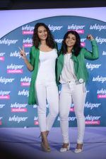 Sonakshi Sinha and Sakshi Malik at Whisper new campaign launch on 20th Sept 2016 (60)_57e23024593f3.JPG