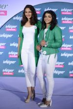 Sonakshi Sinha and Sakshi Malik at Whisper new campaign launch on 20th Sept 2016 (68)_57e22fcb2cfc4.JPG