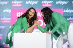 Sonakshi Sinha and Sakshi Malik at Whisper new campaign launch on 20th Sept 2016 (69)_57e23026f18a8.JPG