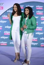Sonakshi Sinha and Sakshi Malik at Whisper new campaign launch on 20th Sept 2016 (70)_57e23028249dc.JPG