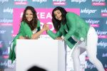 Sonakshi Sinha and Sakshi Malik at Whisper new campaign launch on 20th Sept 2016 (73)_57e22fce1bb6f.JPG